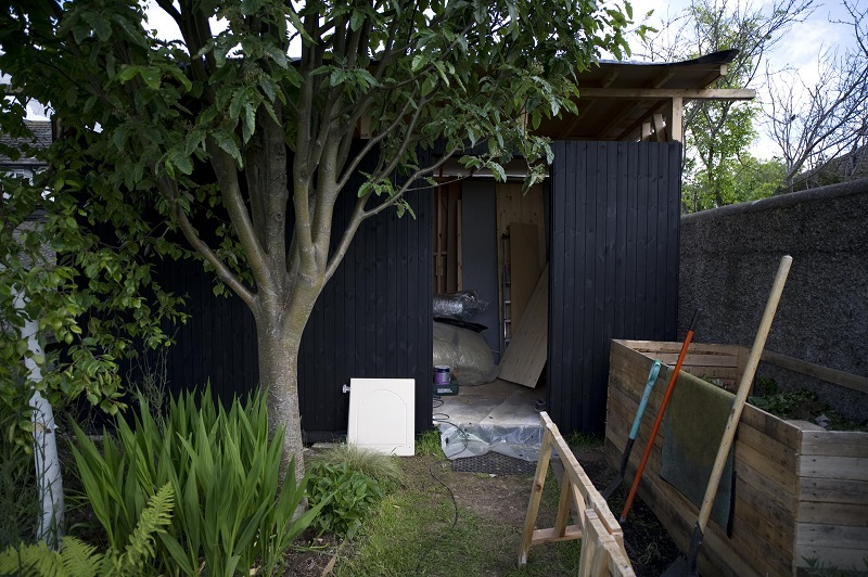 Wooden sheds