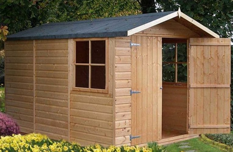 Wooden sheds for the garden