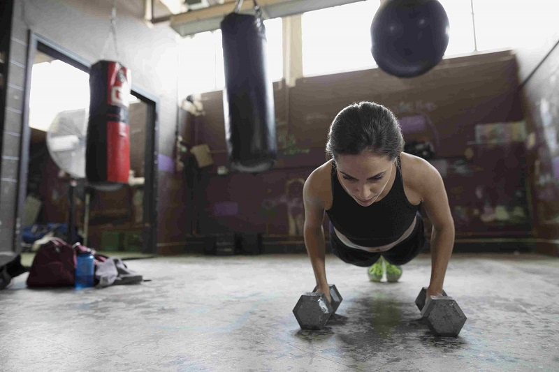 simple exercises with weights
